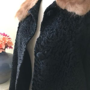 Vintage Jackets & Coats - VINTAGE MOHAIR AND FOX COAT